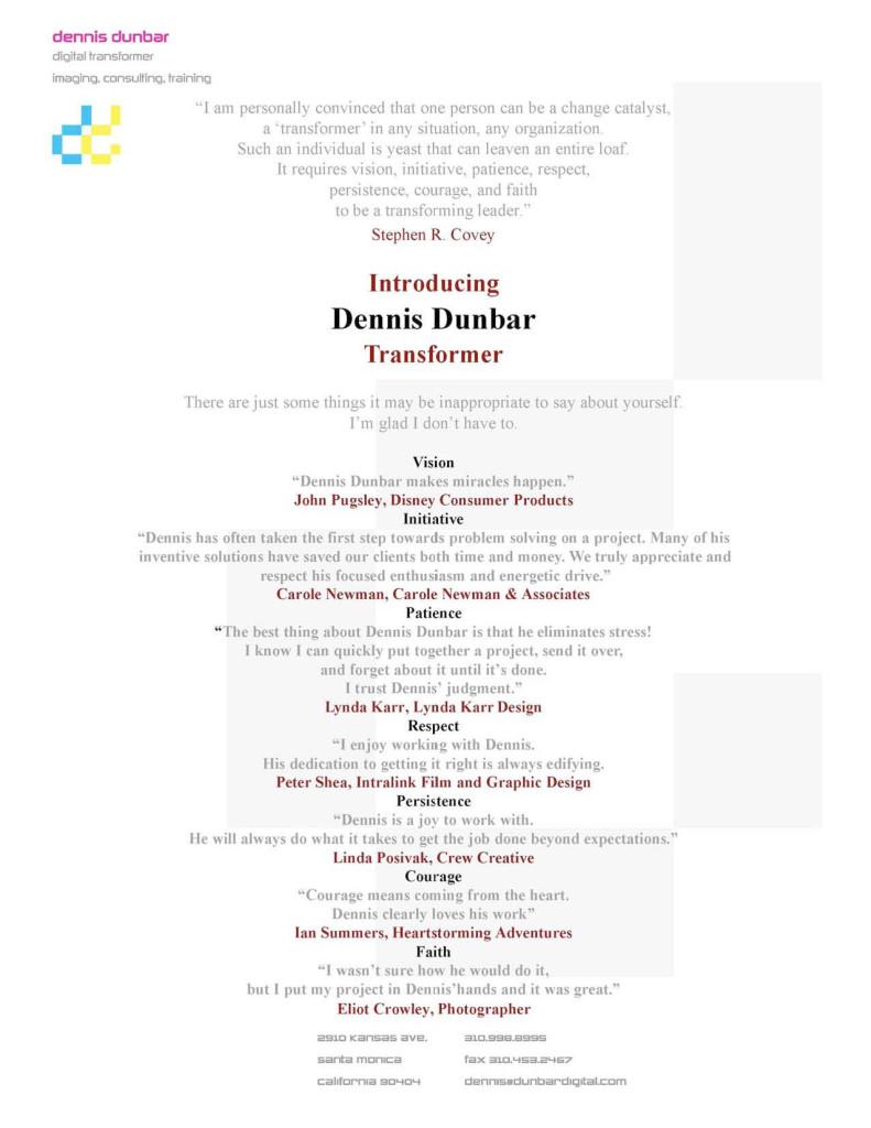 Microsoft Word - DDunbar Resume 2008.doc
