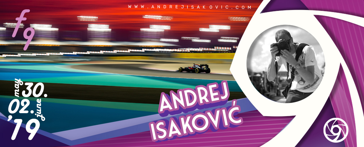 Lecture and solo exhibition of best serbian F1 Photographer Andrej Isakovic